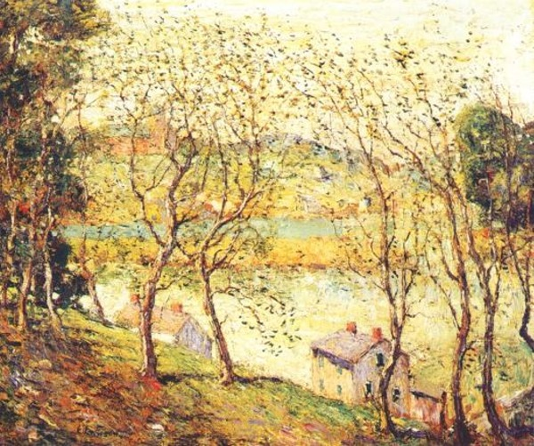 Ernest-Lawson-xx-Springtime-Harlem-River-xx-Private-Collection